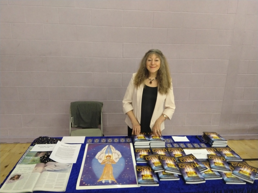 At the Phoenix Probe conference at the weekend, with my books. I will be speaking at the next one in September.